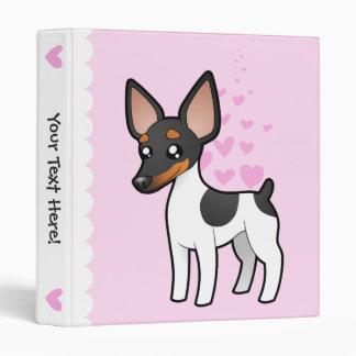 Rat Terrier / Toy Fox Terrier Love 3 Ring Binder