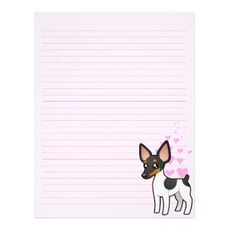 Rat Terrier / Toy Fox Terrier Love Letterhead