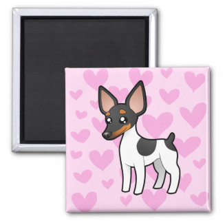 Rat Terrier / Toy Fox Terrier Love Magnet
