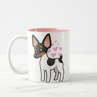 Rat Terrier / Toy Fox Terrier Love Two-Tone Coffee Mug
