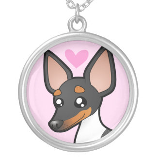 Rat Terrier / Toy Fox Terrier Love Round Pendant Necklace