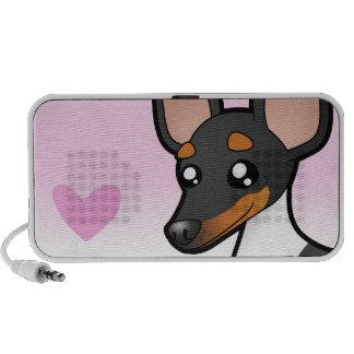 Rat Terrier / Toy Fox Terrier Love iPod Speaker