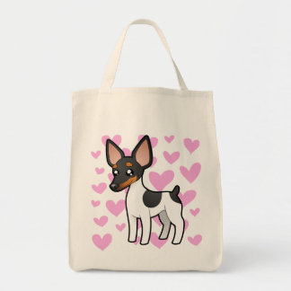 Rat Terrier / Toy Fox Terrier Love Tote Bag