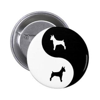 Rat Terrier Yin Yang Pinback Buttons