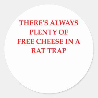 rat trap round stickers