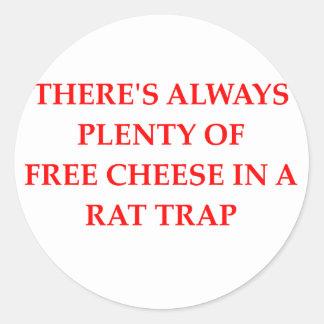 rat trap round sticker