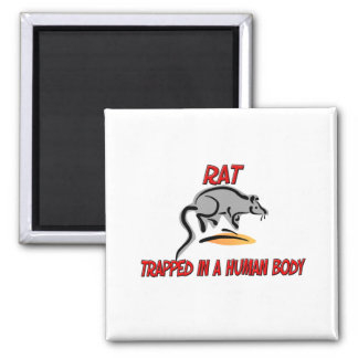 Rat trapped in a human body refrigerator magnets