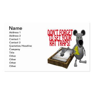 Rat Traps Business Card