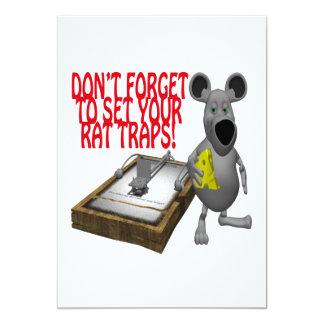 Rat Traps Personalized Invites