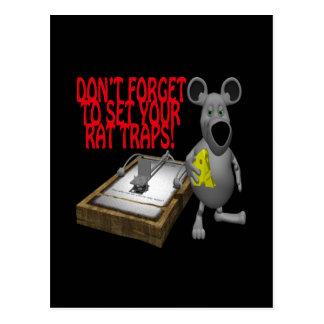 Rat Traps Postcard