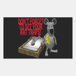 Rat Traps Rectangular Sticker
