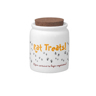 Rat Treats Jar! Candy Dish