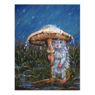 Rat under Mushroom Postcard