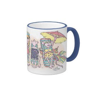 Rat Vacation Ringer Coffee Mug