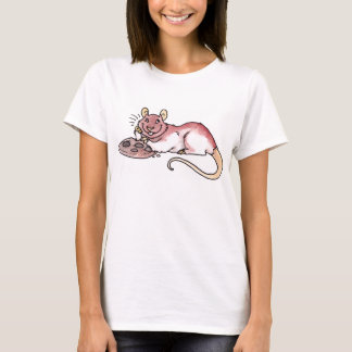 Rat with a Cookie Ladies Fitted T-shirt