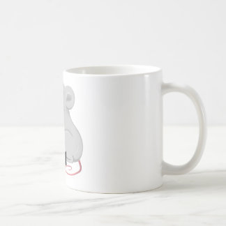 rat with character classic white coffee mug