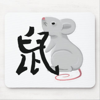 rat with character mouse pad