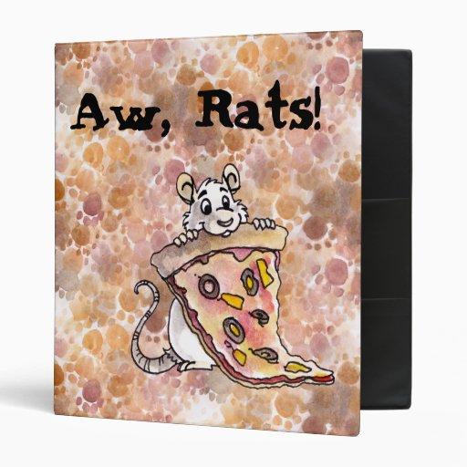 Rat with Pizza Binder