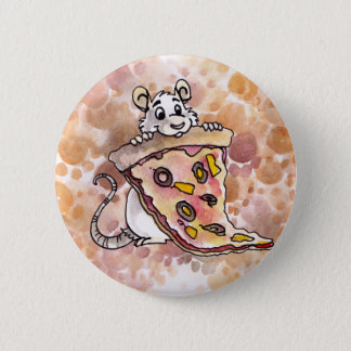 Rat with Pizza Button
