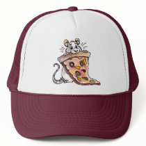 Rat with Pizza Hat