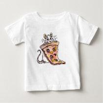 Rat with Pizza Infant T-shirt