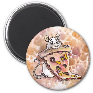 Rat with Pizza Magnet