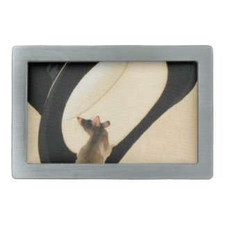 Rat Year 2020 Chinese Zodiac Birthday Belt Buckl Rectangular Belt Buckle