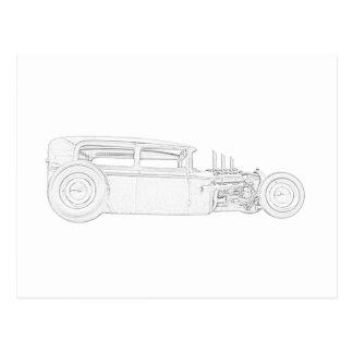 Rata 1930 de Ford Rod Postales