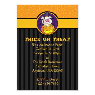 """rata 5x7 en las invitaciones de Halloween de la Invitación 5"""" X 7"""""""
