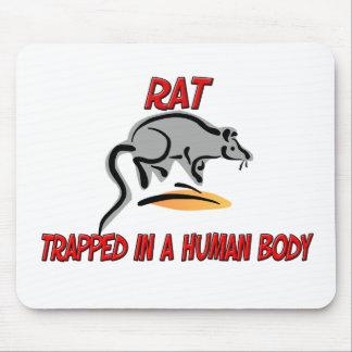 Rata atrapada en un cuerpo humano alfombrillas de ratones