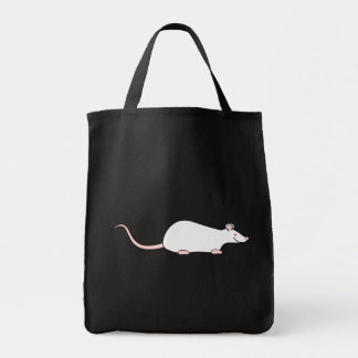 Rata blanca del mascota del albino bolsa tela para la compra
