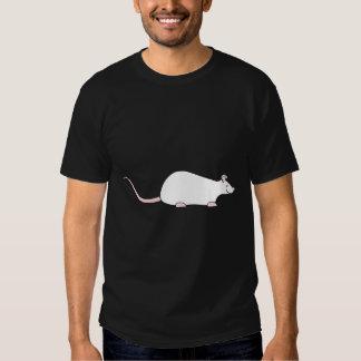 Rata blanca del mascota del albino camisas