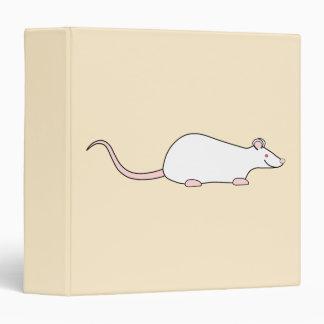 """Rata blanca del mascota del albino carpeta 1 1/2"""""""