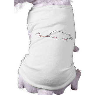 Rata blanca del mascota del albino playera sin mangas para perro