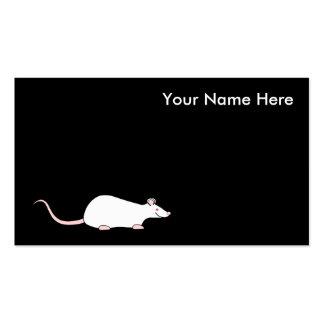 Rata blanca del mascota del albino tarjetas de visita