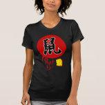 Rata china del zodiaco en camiseta básica de las