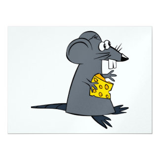 "Rata codiciosa invitación 6.5"" x 8.75"""