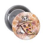 Rata con el botón de la pizza pin