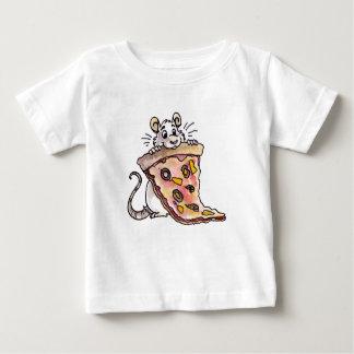 Rata con la camiseta del niño de la pizza camisas