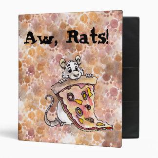 Rata con la carpeta de la pizza