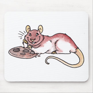 Rata con una galleta Mousepad (Ratpad?) Alfombrilla De Ratón