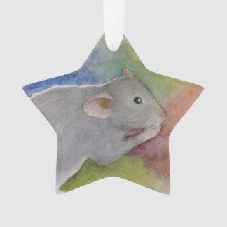 Rata de la acuarela u ornamento del ratón