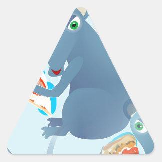 rata de la pizza pegatina triangular