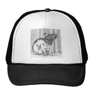 Rata de lujo encapuchada negra gorras de camionero
