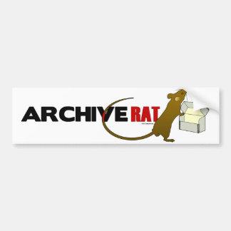 Rata del archivo (versión 2) etiqueta de parachoque