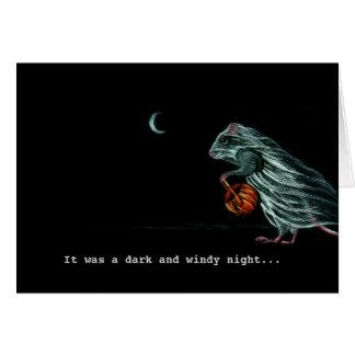 Rata del fantasma en tarjeta de nota ventosa de la