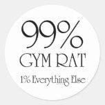 Rata del gimnasio del 99% pegatinas redondas