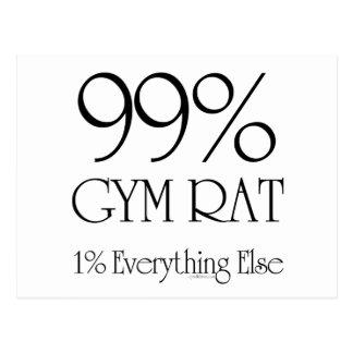 Rata del gimnasio del 99% tarjetas postales