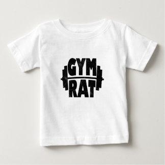 Rata del gimnasio playera de bebé