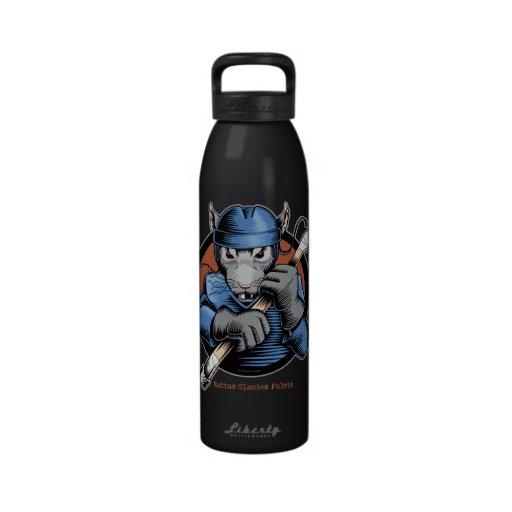Rata del hockey botellas de agua reutilizables